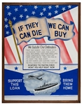 "Original World War II ""Buy War Bonds"" Poster Artwork."