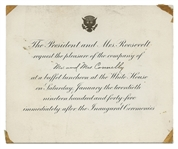 Honored Guest Non-Transferable Pass to The White House Grounds Inauguration Ceremonies of January 20th, 1945.