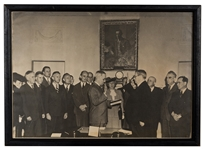 1945 Photo of Truman Taking the Oath of Office.