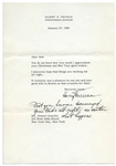 Harry Truman Typed Letter Signed to Robert Connelly.