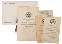 Packet of Invitations to Inauguration Ceremonies.