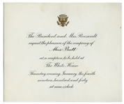 Formal Printed Invitation to White House Reception.