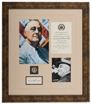Framed FDR Autograph Display.