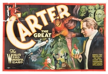 Carter the Great. World's Weird Wonderful Wizard Billboard Poster.
