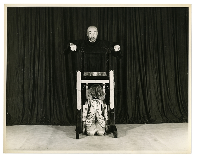 Vintage B/&W Famous Virgil The Magician Preforming A Vanishing Act Photo #1308