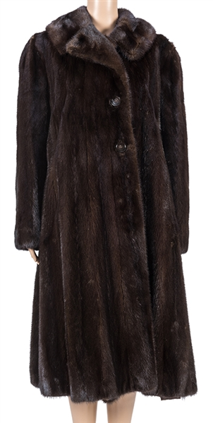 Greta Garbo's Personally-Owned and Monogrammed Full-Length Fredrica Wild Mink Coat.