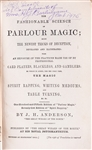 The Fashionable Science of Parlor Magic.