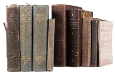 Group of Seven Antiquarian Volumes Pertaining to Magic and Other Subjects.