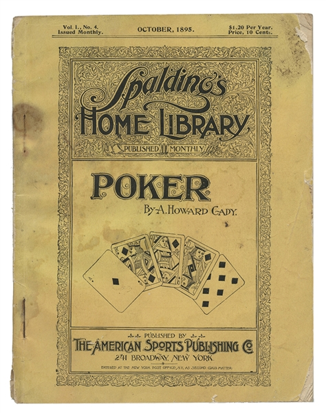 Spalding's Home Library. Poker.