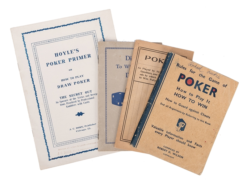 Four Vintage Manuals on Cheating at Poker and Dice.
