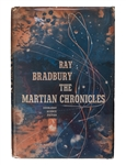 The Martian Chronicles, With a Wine Label Signed by Bradbury.