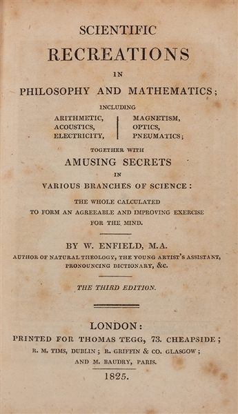 Scientific Recreations in Philosophy and Mathematics.