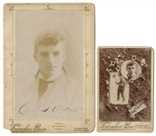 Two Cabinet Card Portraits of Chas. T. Aldrich, one Signed.
