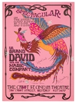 Le Grand David and His Spectacular Magic Company. Cast Signed Poster.