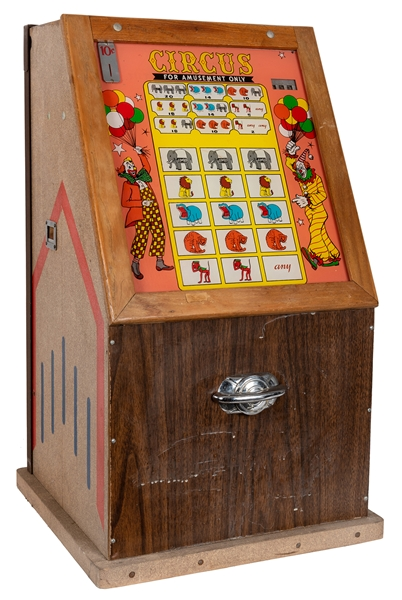 Auto-Bell Novelty 10 Cent Electric Slot Machine.