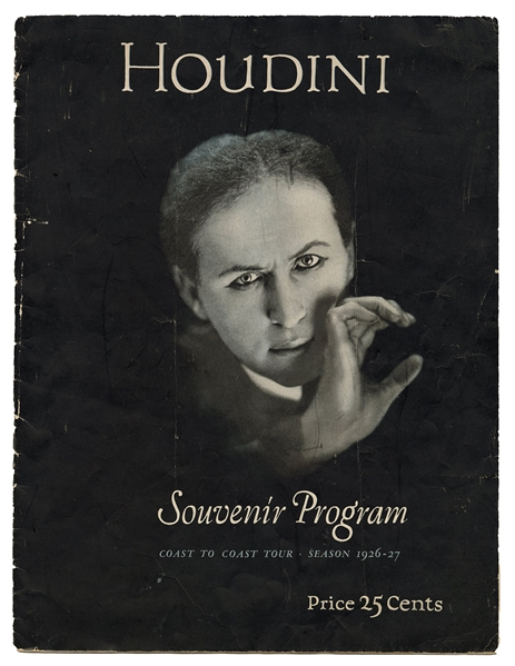 Houdini Final Tour Souvenir Program.