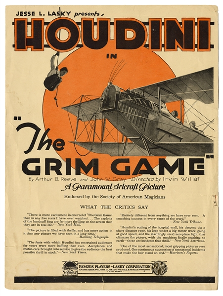 The Grim Game Promotional Brochure.