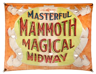 Masterful Mammoth Magical Midway Banner.
