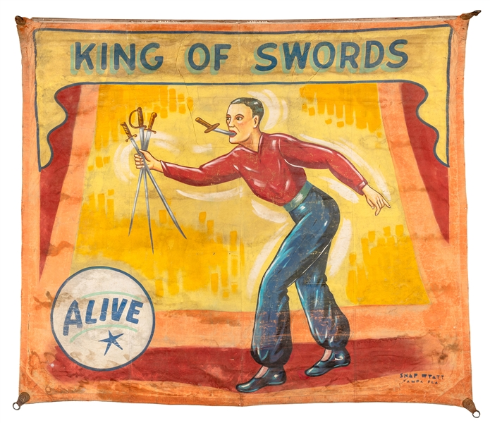 King of Swords. Sideshow Banner.