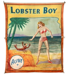 Lobster Boy. Alive.