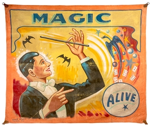 Magic. Alive. Sideshow Banner.