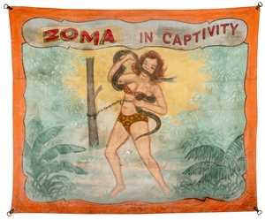 Zoma in Captivity. Sideshow Banner.