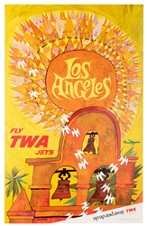 Los Angeles. Fly TWA Jets.