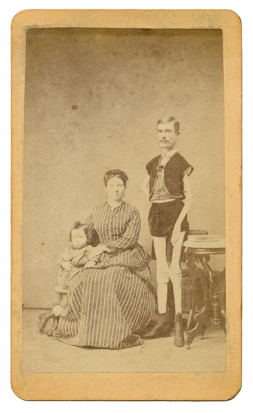 "Isaac Sprague ""Living Skeleton"" CDV."