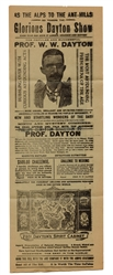 Professor W.W. Dayton Spirit Cabinet Broadside and Advertisement Banners.