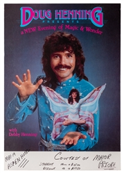 Doug Henning Window Card.
