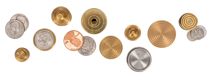 Collection of Brass and Metal Coin and Close-Up Magic tricks.