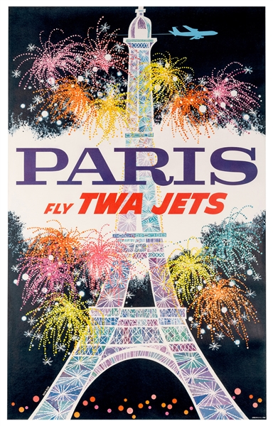 Paris. Fly TWA Jets.