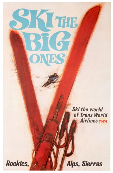 TWA. Ski the Big Ones.