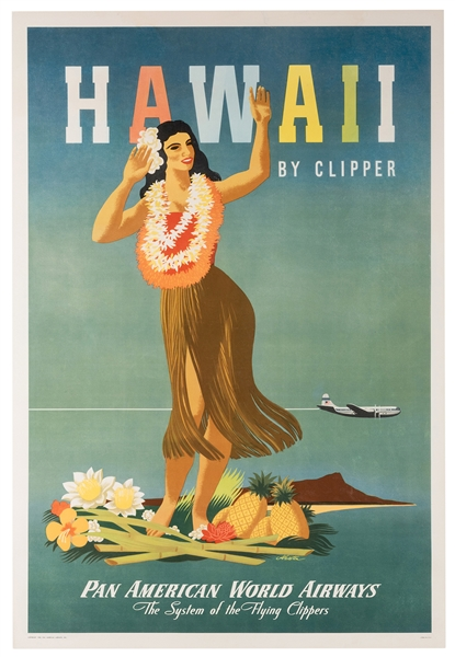 Hawaii By Clipper. Pan American World Airways.
