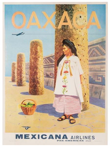 Oaxaca. Mexicana Airlines. A Pan American Affiliate.