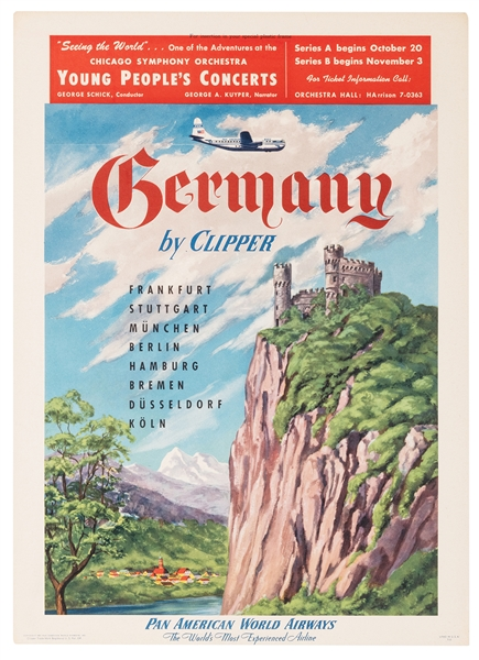 Germany by Clipper. Pan American World Airways.