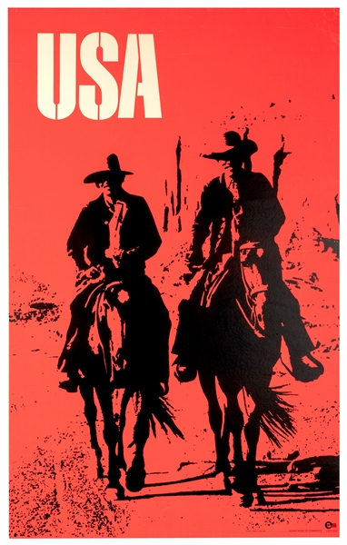 USA. Day-Glo Western Travel Poster.