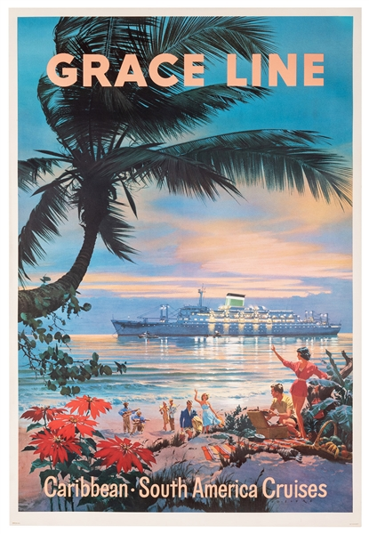 Grace Line. Caribbean South American Cruises.