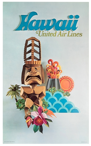 Hawaii. United Air Lines.