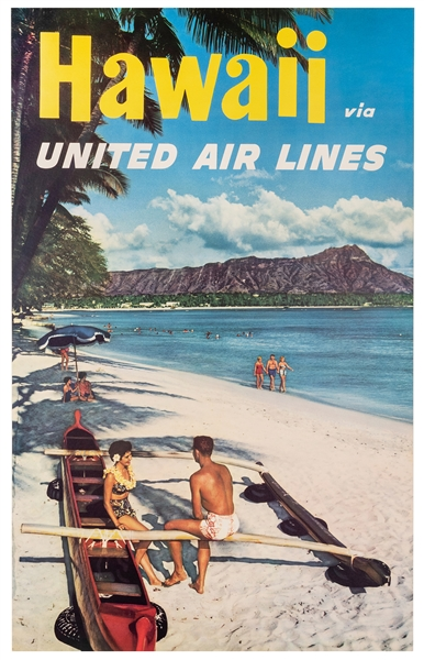 Hawaii Via United Air Lines.