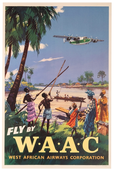 Fly by WAAC. West African Airways Corporation.