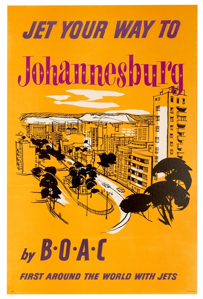 Jet Your Way to Johannesburg By BOAC.