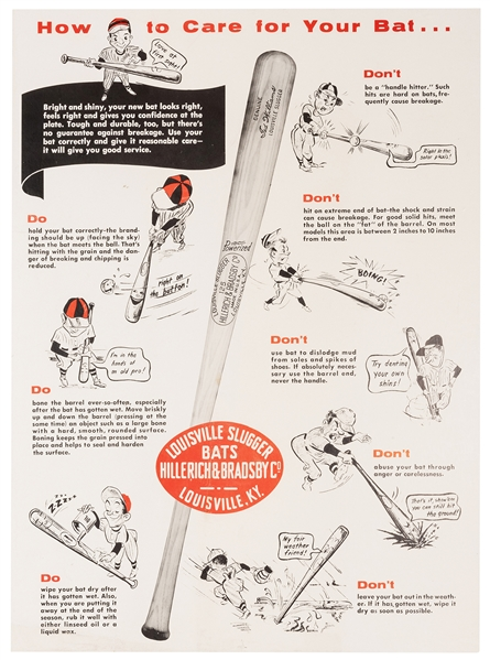 How to Care for Your Bat. Louisville Slugger.