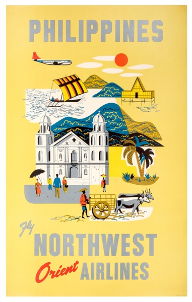 Philippines. Fly Northwest Orient Airlines.