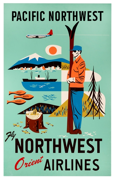 Pacific Northwest. Fly Northwest Orient Airlines.