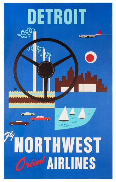 Detroit. Fly Northwest Orient Airlines.