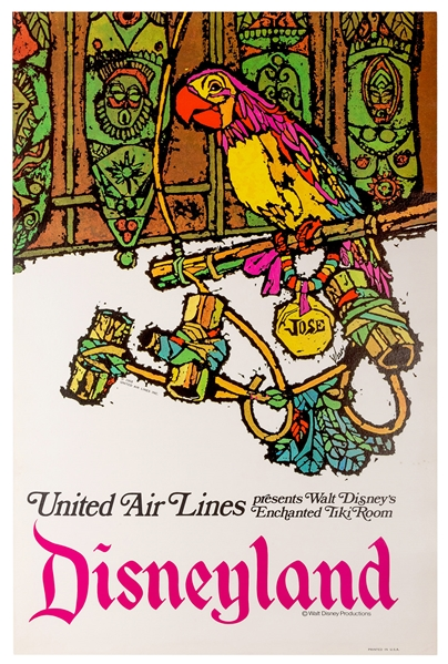 United Air Lines Presents Walt Disney's Enchanted Tiki Room. Disneyland.