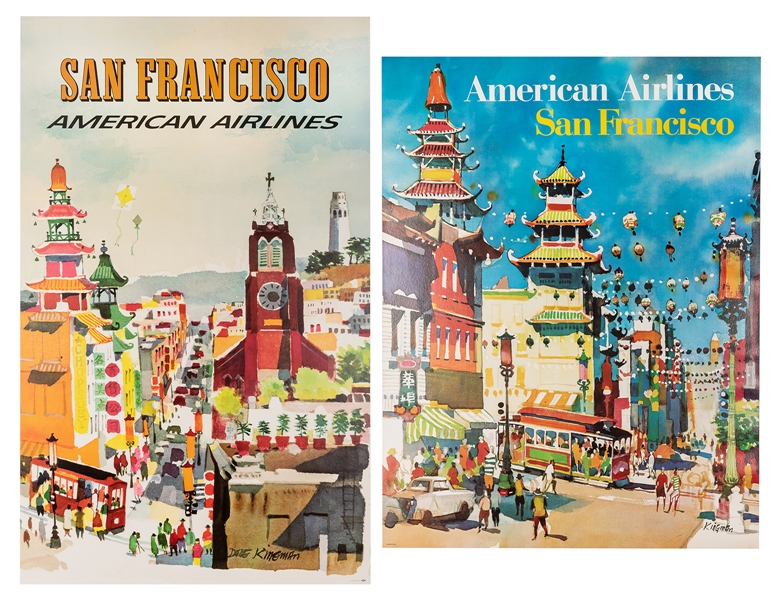 American Airlines. San Francisco. Two Airline Posters.