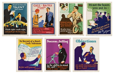 Bill Jones Work Incentive Mini Posters. Group of Seven.