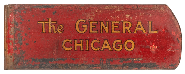 The General Chicago Painted Iron Store Sign.